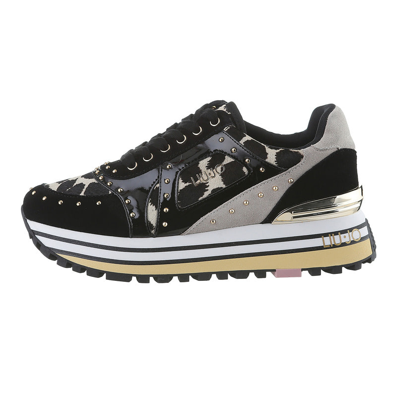 [리우조]여성 MAXI ANIMAL PRINT Sneakers L202SE13BK